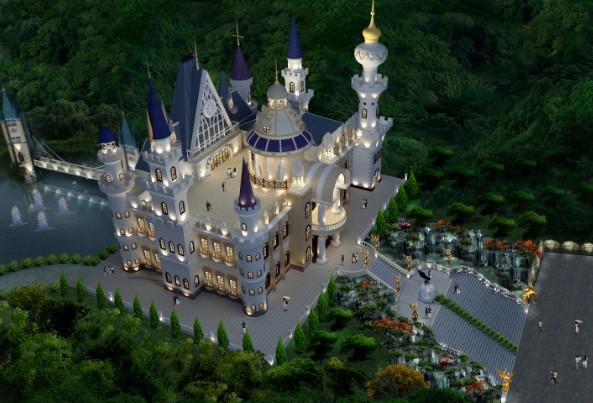 龙凤山庄将建成全国最大的皇室古堡